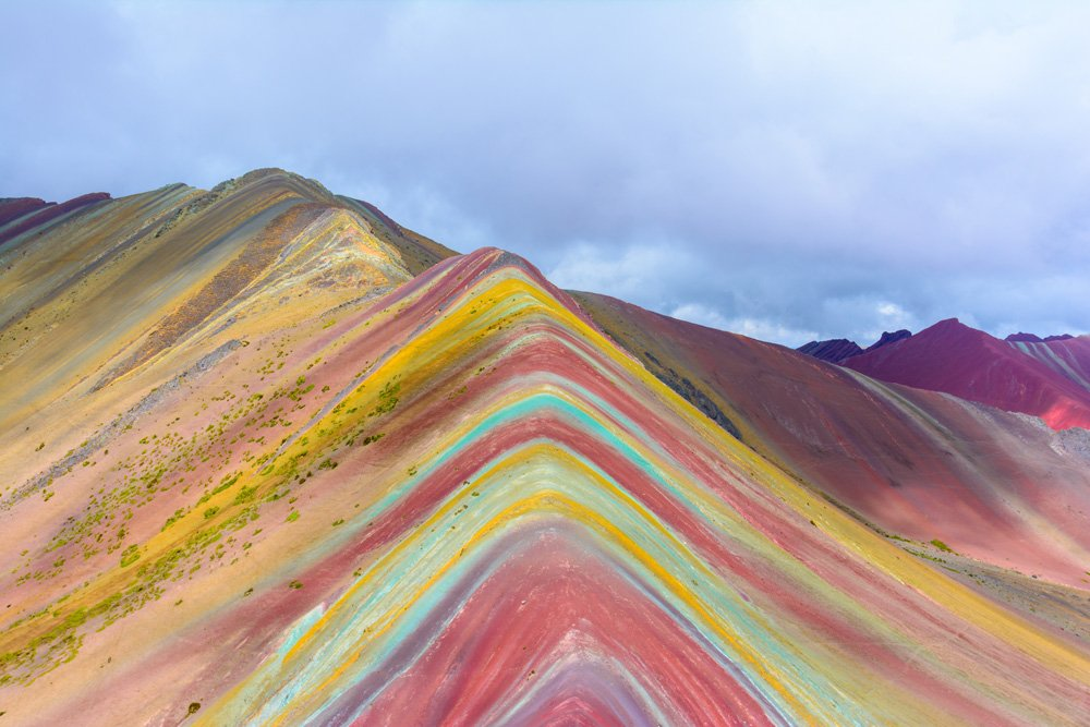 Vinicunca, Montana de Siete Colores, or Rainbow Mountain, Pitumarca Peru